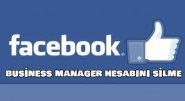 facebook-business-hesabini-silme